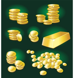 Gold coin and bullion vector