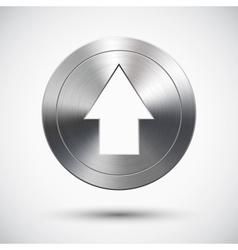 Chrome up button vector