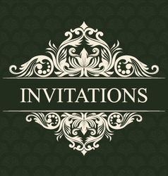 Invitations ornament vector