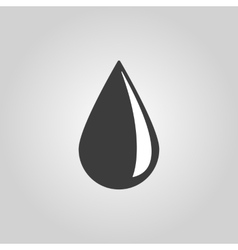 The drop icon water and oil symbol flat vector