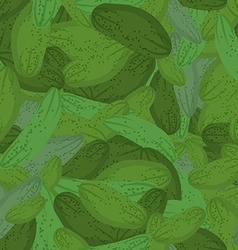 Cucumber pattern seamless background with green vector