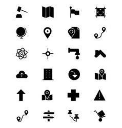 Map and navigation icons 3 vector