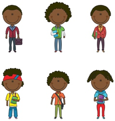 Afro-american students vector