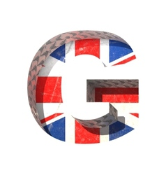 Great britain cutted figure g paste to any vector