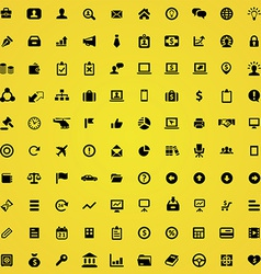 100 business icons vector