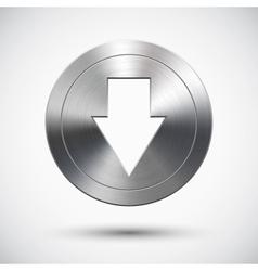 Chrome down button vector