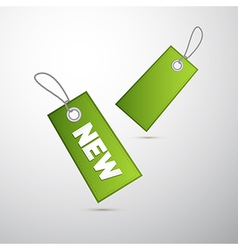 Green labels tag with string and title new vector