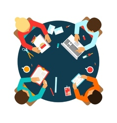Business team top view vector