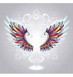 Stained glass wings vector