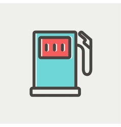 Gasoline pump thin line icon vector