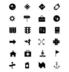 Map and navigation icons 5 vector