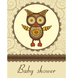Owl baby shower vector