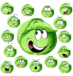 Cabbage cartoon vector