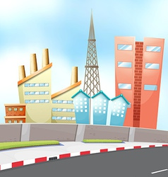 City and road vector