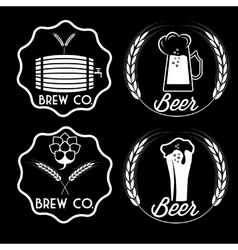 Set of beer emblems vector