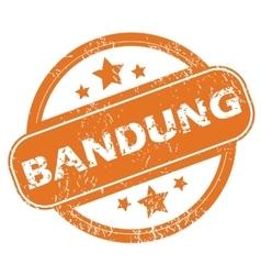 Bandung round stamp vector