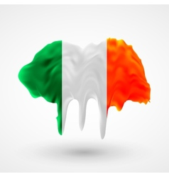 Flag of ireland painted colors vector