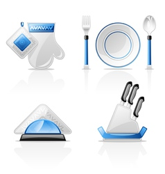 Kitchen items vector