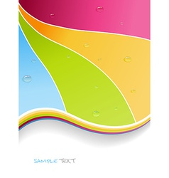 Water drops on colorful background art vector
