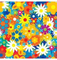 Abstract flowers background vector