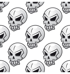 Seamless pattern with scary evil skull vector