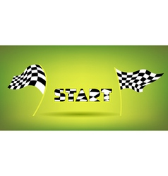 Racing flags and start title vector