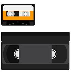Cassette and vhs tape vector