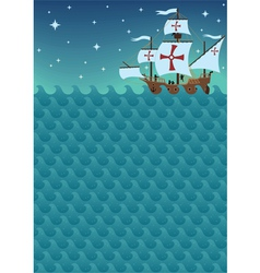 Sailboat background vector