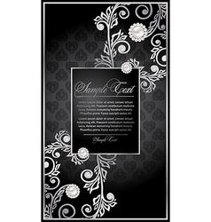 Elegance floral frame vector