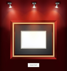Indoor wall decoration picture frame design vector
