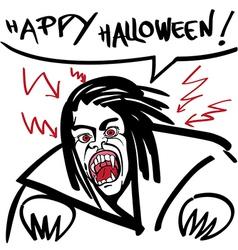 Horror vampire vector