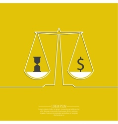 Time is money money concept vector