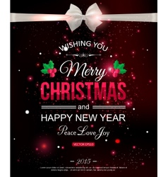 Merry christmas typographical celebration concept vector