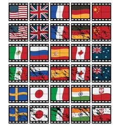 Film strip flags vector