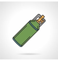 Flat icon for paintball co2 cylinder vector