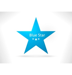 Blue abstract star shape vector