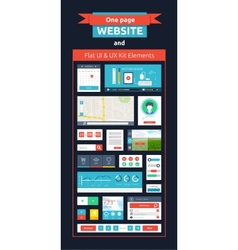 Website page template web design vector