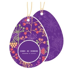 Colorful garden plants easter egg shaped vector