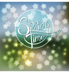 Springtime blurred background vector