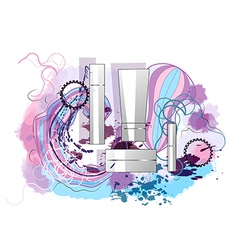 Perfumes and splash vector