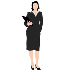 Business woman with folder vector