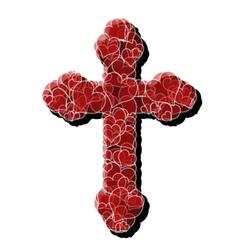 Cross of love vector
