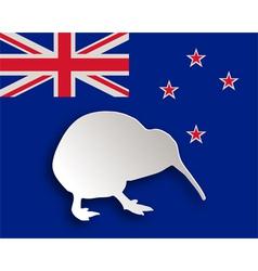 Kiwi on flag vector