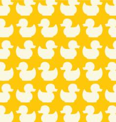 Duck seamless pattern vector