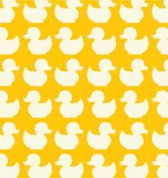 Duck seamless pattern vector