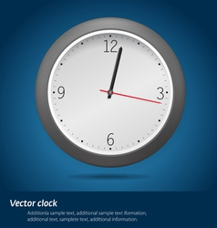 Clock over blue background vector