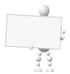 Man with empty board vector