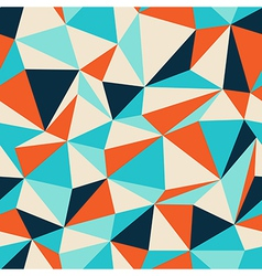 Triangle seamless pattern blue orange vector
