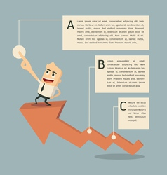 Success graph infographic vector