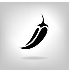Pepper isolated on light background vector